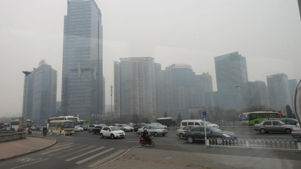 Business District - Beijing - Smog - time travel blonde