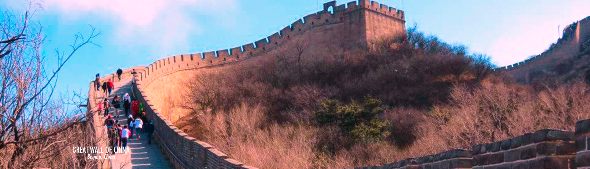 Great Wall of China - Path way - Beijing China - time travel blonde