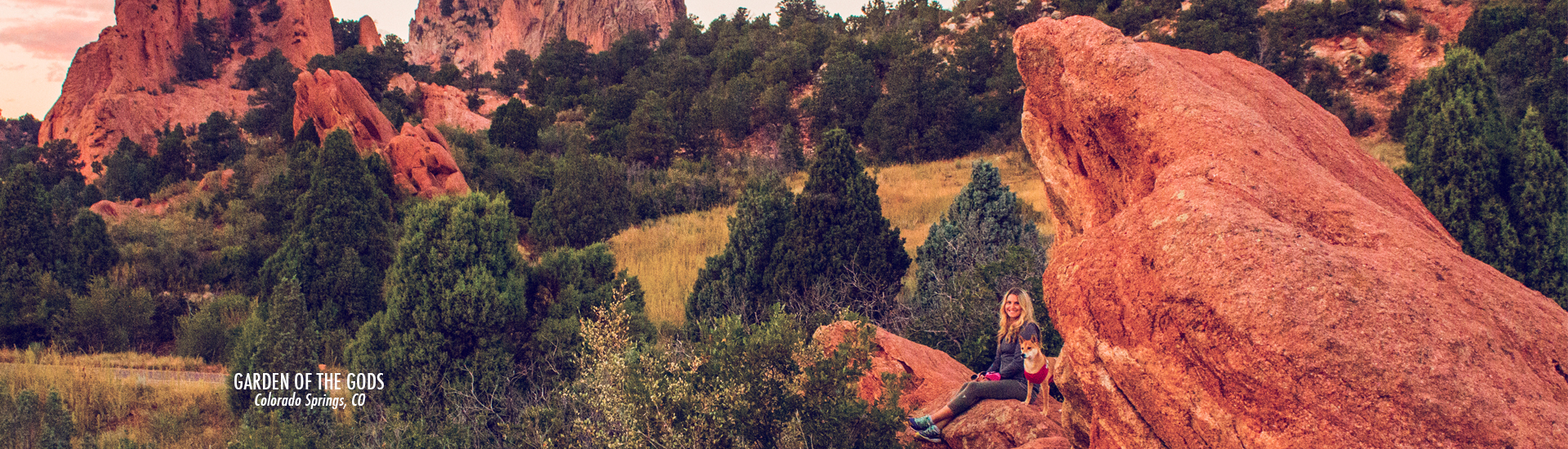 Colorado Springs - Garden of the Gods - Colorado - time travel blonde