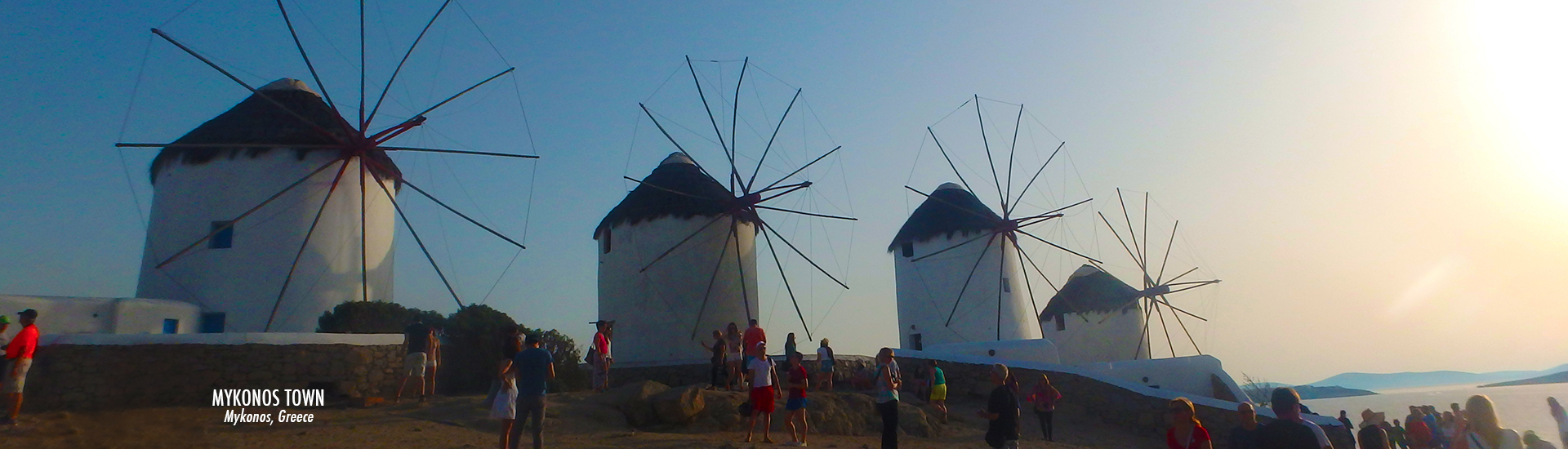 Mykonos Town - Windmills - Mykonos Greece - time travel blonde