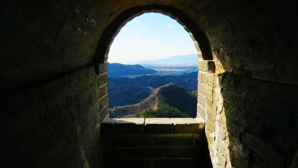 Great wall of china - views from tower - Badaling - time travel blonde