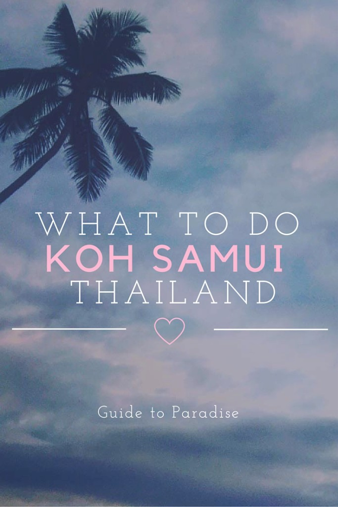 what to do in koh samui time travel blonde