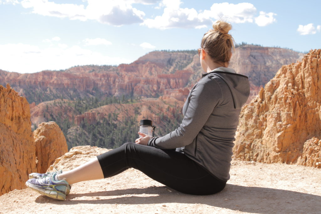 Admiring the views in Bryce