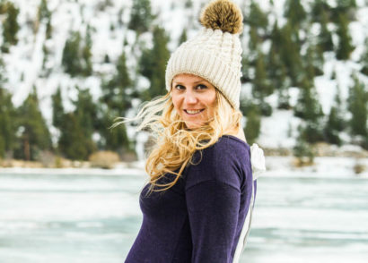 cute navy blue maternity sweater